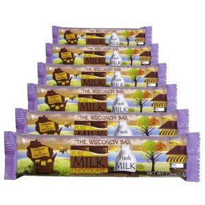 Wisconsin bar milk chocolate.