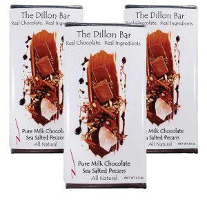 The Dillon bar milk chocolate with pecans.