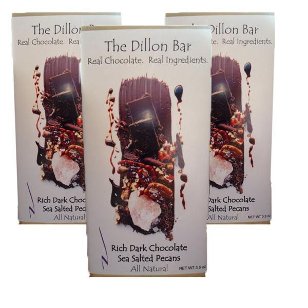 The Dillon bar dark chocolate with pecans.