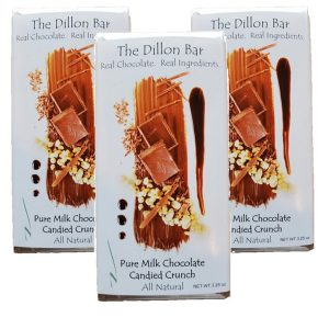 The Dillon bar milk chocolate candied crunch.