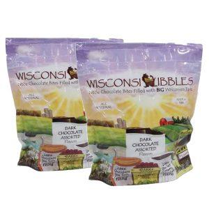 Wisconsin Nibbles dark chocolate sorted.