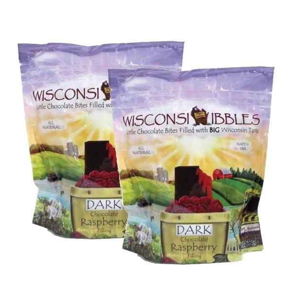 Wisconsin Nibbles dark chocolate raspberry.