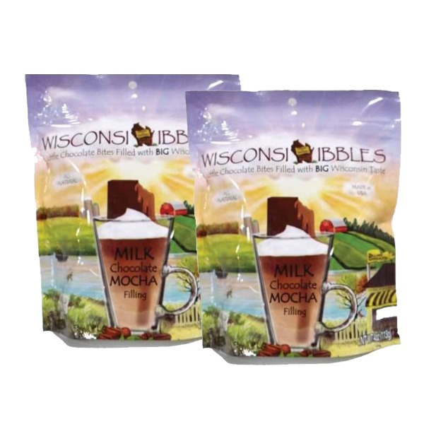 Wisconsin Nibbles milk chocolate mocha.