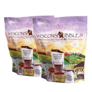 Wisconsin Nibbles milk and dark chocolate.