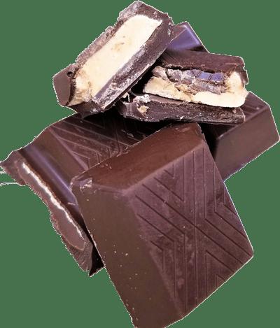 Dark chocolate with peanut butter.